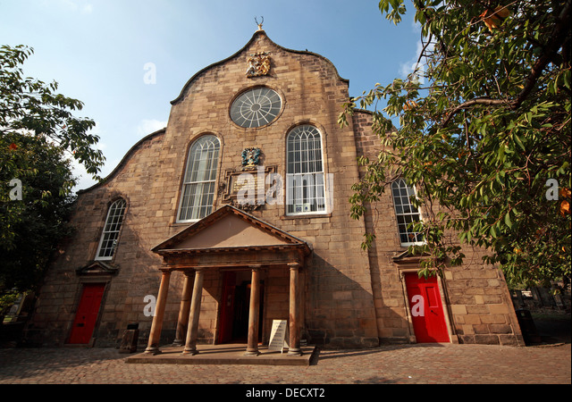 Canongate Kirk Church Edinburgh Royal Mile, Scotland, UK exterior - Stock Image