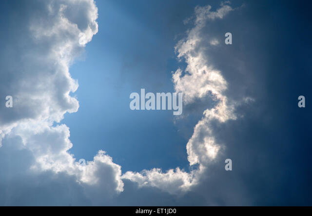 Phenomenon of cloud formation ; Pachmarhi ; Madhya Pradesh ; India 3 October 2008 - Stock Image