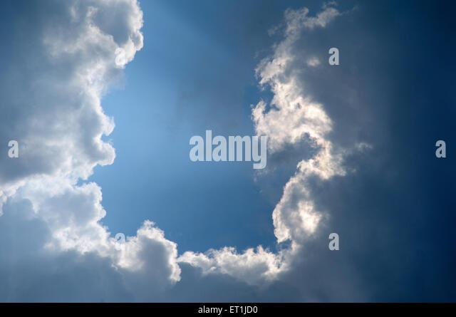 Phenomenon of cloud formation ; Pachmarhi ; Madhya Pradesh ; India 3 October 2008 - Stock Image