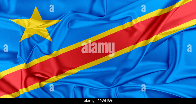 Flag of Democratic Republic of the Congo - Stock-Bilder