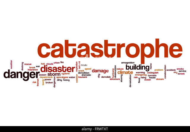 Catastrophe word cloud - Stock Image
