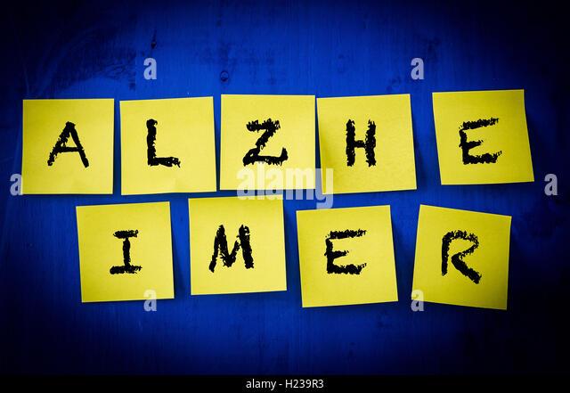 Alzheimer's disease concept. - Stock Image