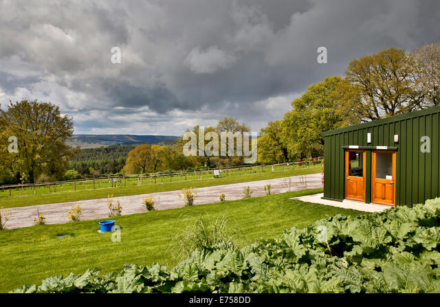 Deanwood Holidays Campsite; Forest of Dean; Gloucestershire; UK - Stock Image