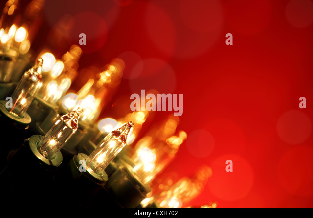 Christmas lights - Stock Image