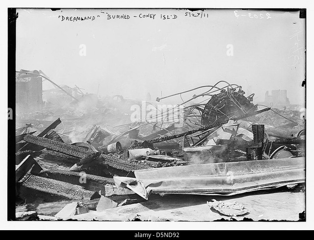 'Dreamland' burned, Coney Island, 5/27/11 (LOC) - Stock Image