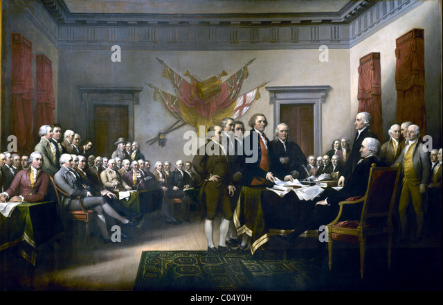 Declaration of Independence, July 4, 1776 - Stock Image