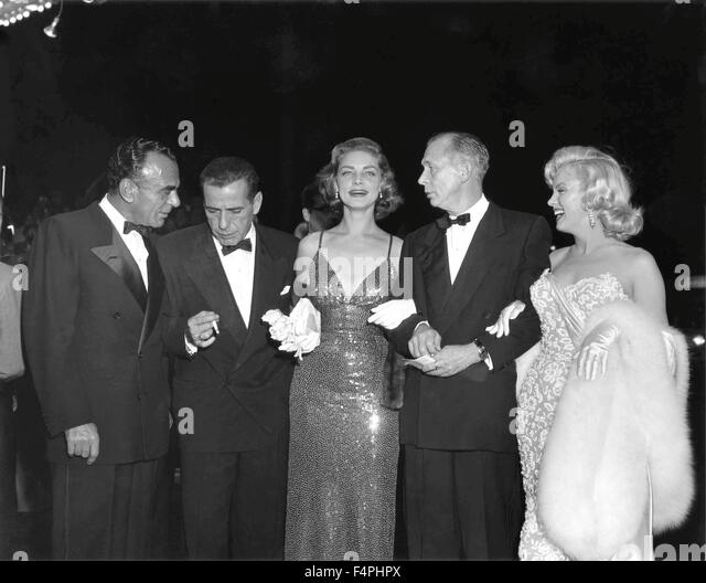 New-York, November 1953 ; at the premiere of 'How to Marry a Millionaire' with George Bowser (General Manager, - Stock Image