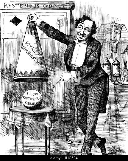 Benjamin Disraeli 1876 - Stock Image
