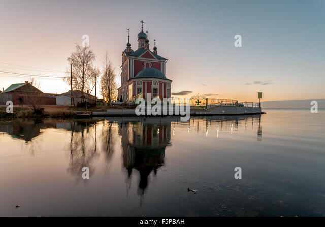 Pereslavl-Zalessky, Russia - November 07, 2015: Sorokosvyatsky church, of Forty martyrs Sevastiysky  1775. View - Stock-Bilder