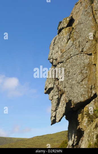 The Grey Man of Merrick, Galloway Hills, Dumfries and Galloway, Scotland, United Kingdom, Europe - Stock Image