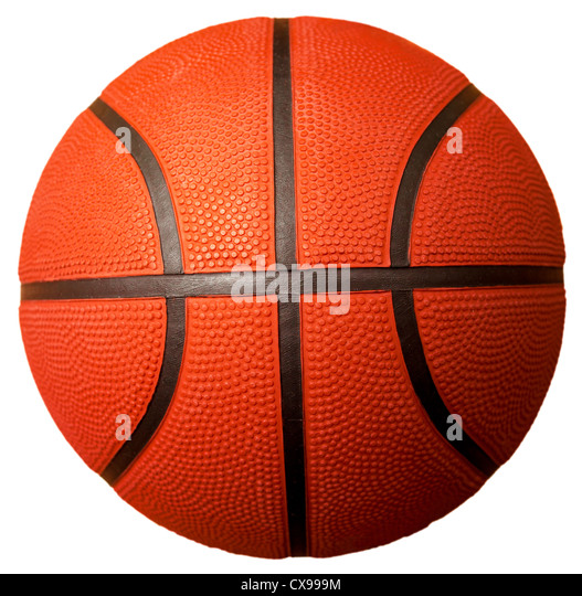 basketball ball isolated on white - Stock Image