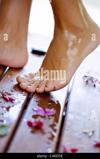 spa treatment - Stock Image