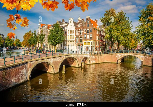 Amsterdam cityscape - Stock Image