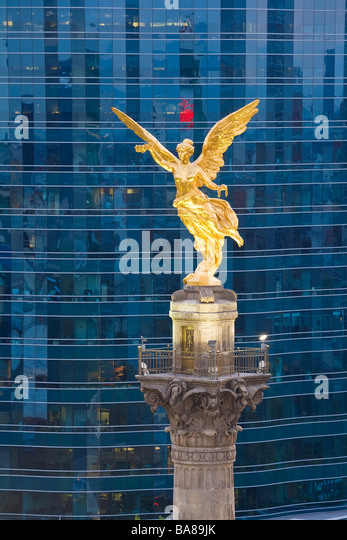 El Angel Independence Monument offices Mexico - Stock Image