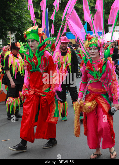 Germany Berlin Carnival of Cultures couple in costume - Stock-Bilder