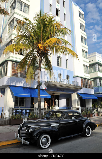 Park Central Hotel, South Beach, Miami, Florida, USA - Stock Image
