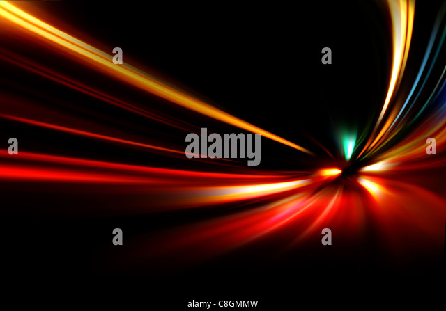 night speed motion - Stock Image