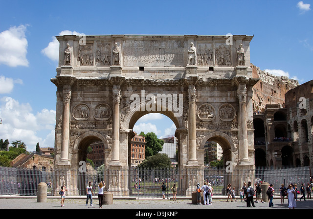Arch of Constantine (Arco di Costantino), Rome, Italy - Stock Image