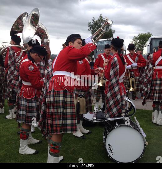 Scottish Bands: Red Kilt Stock Photos & Red Kilt Stock Images