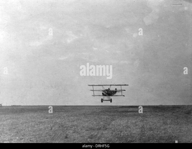 Fokker triplane of Baron Manfred von Richthofen, WW1 - Stock Image