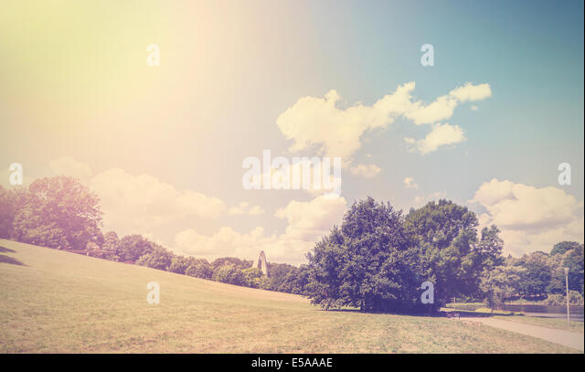 Vintage retro hipster style nature background. - Stock-Bilder
