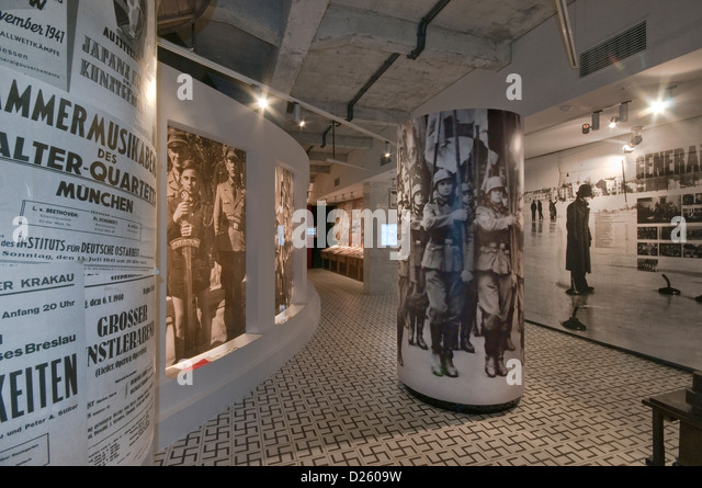 General Government room, Nazi occupation 1939-1945, Oskar Schindler's Factory Museum in Krakow, Poland - Stock Image
