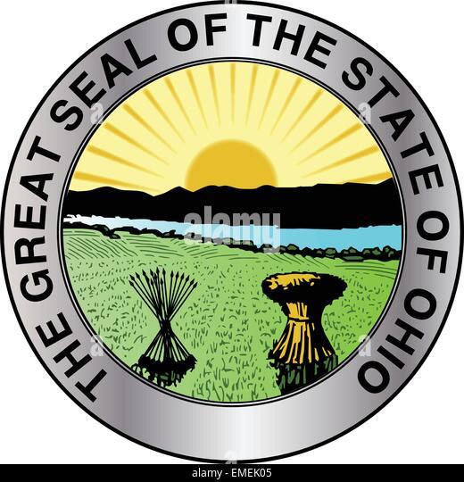 Ohio State Seal - Stock Image