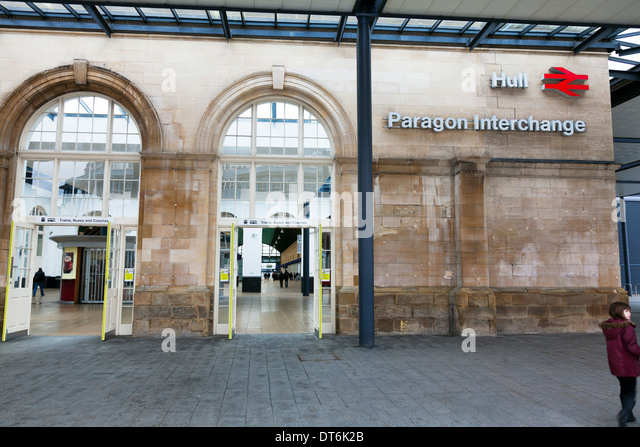 Paragon Interchange intercity Kingston upon Hull City East Riding Paragon Interchange, Yorkshire, UK, England GB - Stock-Bilder