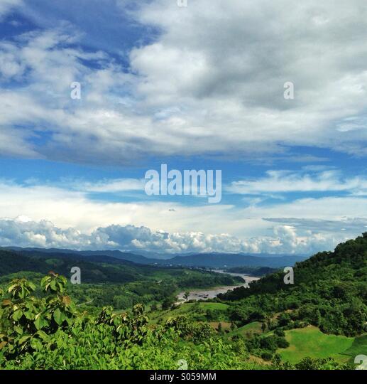 Mekong river chiang Khong Thailand - Stock Image