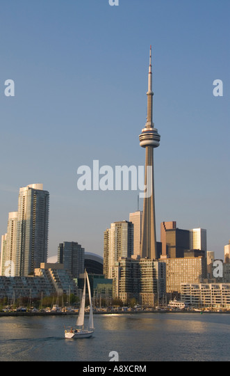 Toronto waterfront skyline - Stock Image