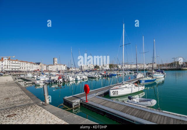 The old port (Vieux Port) of La Rochelle, Charente-Maritime, France. - Stock Image