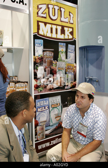 Miami Beach Florida Convention Center Americas Food and Beverage Show Venezuela Zuli Milk - Stock Image