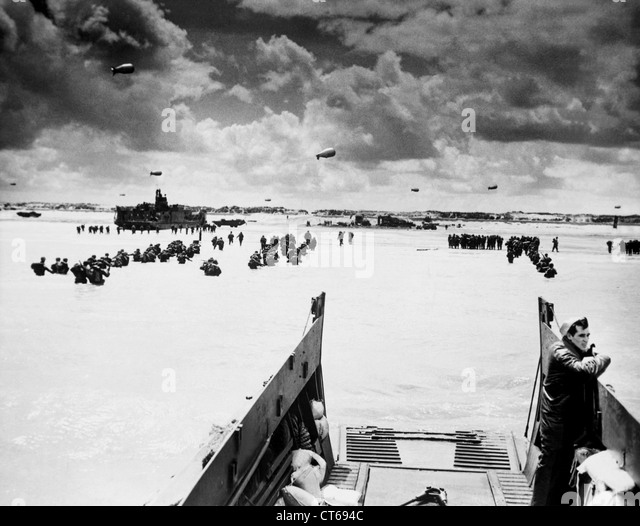 Normandy beaches, D-Day, World War Two - Stock Image