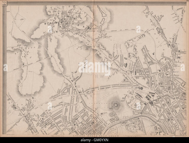 London Street Map 19th Century Stock Photos Amp London