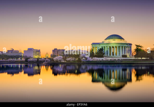 Washington, DC at the Tidal Basin. - Stock Image