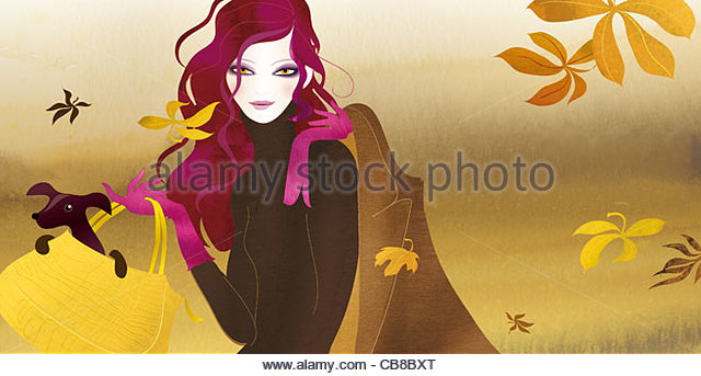 autumn fashion - Stock Image