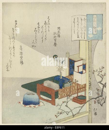 By the Light of a Lamp. Artist: Hokkei, Totoya (1780-1850) - Stock-Bilder