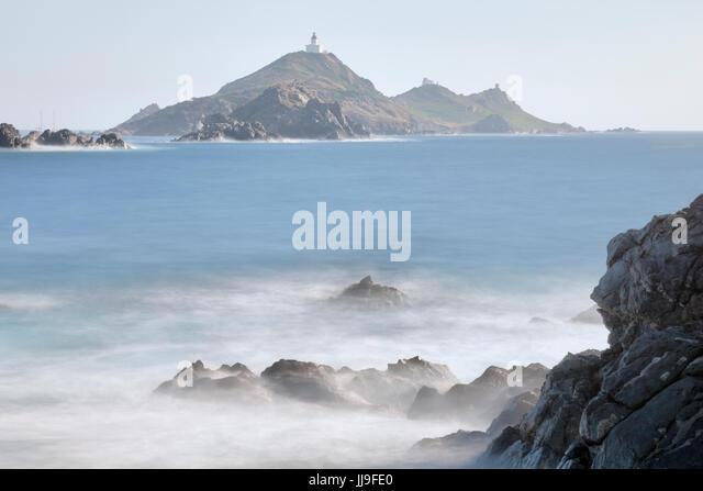 Pointe de la Parata, Iles Sanguinaires, Ajaccio, Corsica, France - Stock-Bilder
