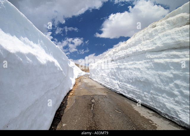 Road near Mt. Lebanon range, Lebanon - Stock Image