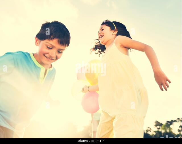 Balloon Activity Playing Recreation Funny Child Concept - Stock Image