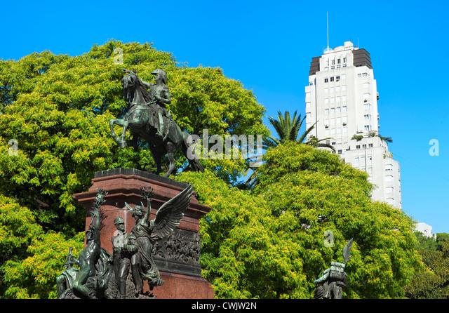General San Martin Monument, Plaza San Martin, Buenos Aires, Argentina - Stock Image