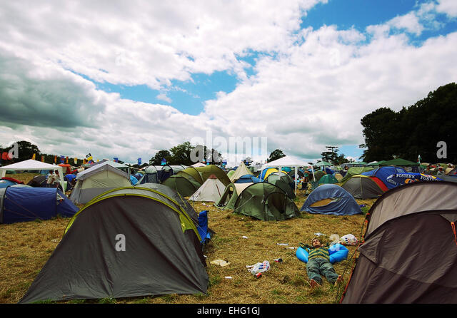 The campsite at the Glade Festival 2008. - Stock Image
