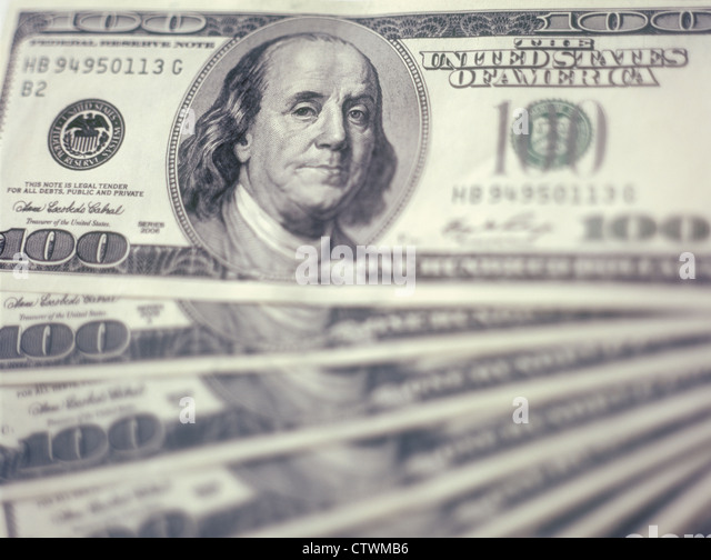 $100 banknotes background. - Stock Image
