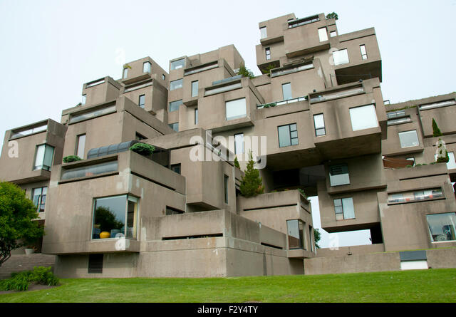 Public Apartments - Montreal - Canada - Stock Image