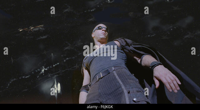 Jun 10, 2004; Los Angeles, CA, USA; VIN DIESEL as Riddick in the science fiction action-adventure, 'The Chronicles - Stock Image