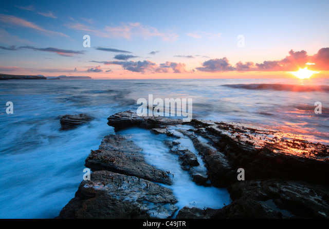 Orkney coastline near Marwick Head - Stock Image