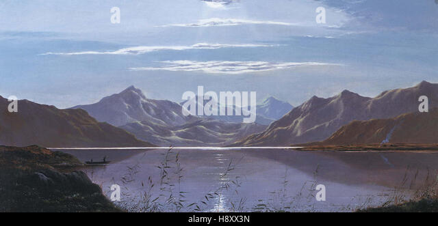 Charles Leslie English schoolShimmering Water - Stock Image