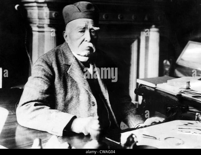 French Statesman Geroges Clemenceau`at his home in Paris.Courtesy CSU Archives/Everett Collection. - Stock Image