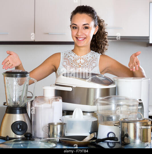 Happy Girl Kitchen: Slow Steaming Stock Photos & Slow Steaming Stock Images