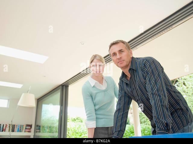 A contemporary business couple. - Stock-Bilder
